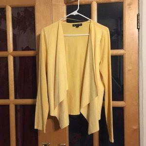 Open drape faux suede cardigan